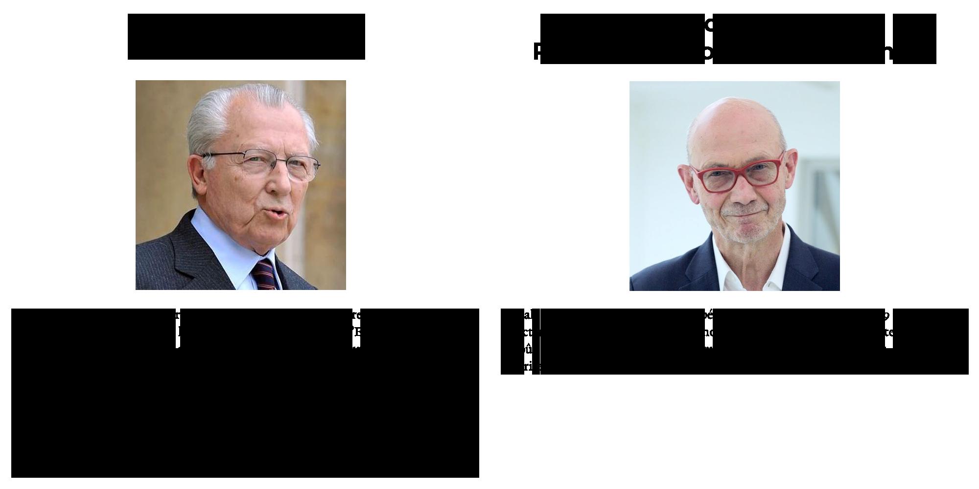 Président d'honneur et Président du Comité - Jacques Delors et Pascal Lamy